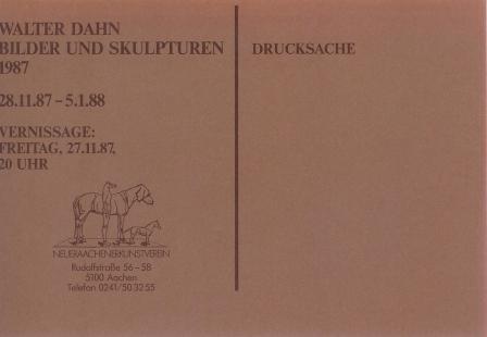 1987 Walter Dahn - Bilder und Skulpturen b