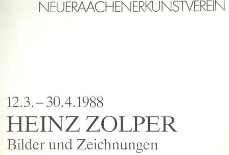 1988 Heinz Zolper - Bilder und Zeichnungen a