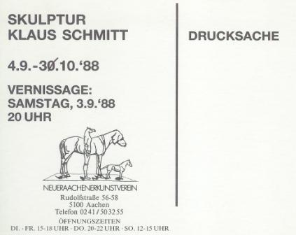 1988 Klaus Schmitt - Skulptur b