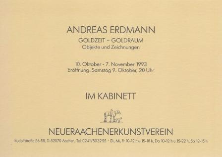 1993 Andreas Erdmann - Goldzeit - Goldraum b