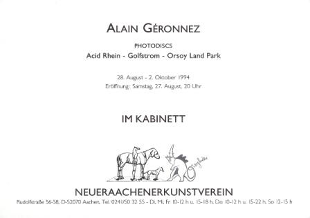 1994 Alain Geronnez - Photodiscs Acid Rhein - Golfstrom - Orsoy Land Park b