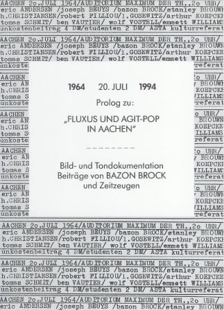 1994 Fluxus und Agit-Pop in Aachen a