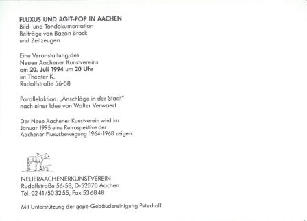 1994 Fluxus und Agit-Pop in Aachen b