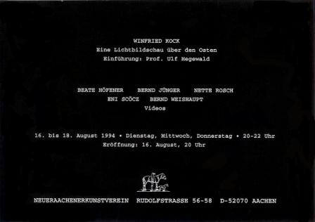 1994 Winfried Kock - Eine Lichtbildschau uber den Osten b