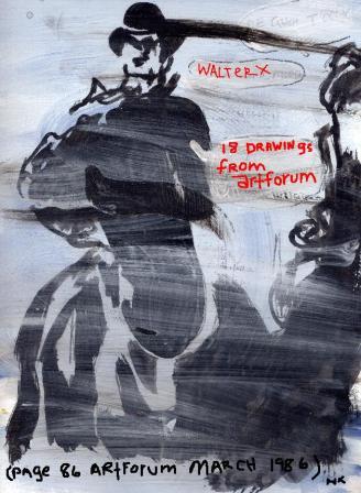 WalterX-18 Drwings from Artforum,2002,18 Unikate